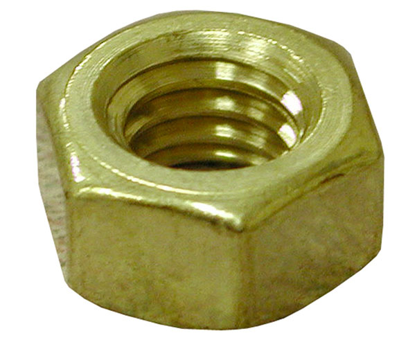 Brass Heavy Hex Jam Nuts